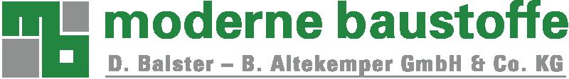 Logo - Moderne Baustoffe | D. Balster - B. Altekemper GmbH & Co. KG - 800